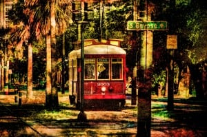 Art Photography, Street Car in New Orleans