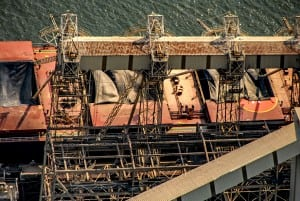 Aerial Photography, Ship loading grain