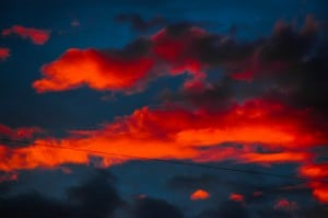 Stanwycks Photography, Sunset with Beautiful Fiery Clouds